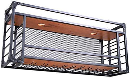 ZfgG Wijnliefhebbers Bar Meubilair & Wijnrekken Wandmontage Plafond Hanging/Verlaagde Wijnglas Houder Metaal/Cube Wijnfles Houder Opknoping Rack/Home Keuken Bar Décor Accessoires