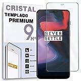 REY Protector de Pantalla para ONEPLUS 6 / One Plus 6, Cristal Vidrio Templado Premium