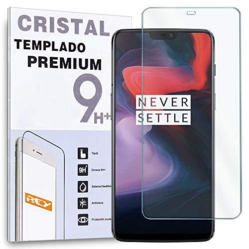 REY Protector de Pantalla para ONEPLUS 6 / One Plus 6, Cristal...