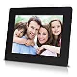 Sungale PF709 - 7 inch Digital Photo Frame with 0.3' Ultra-slim Design, High Definition LCD Screen (Black)