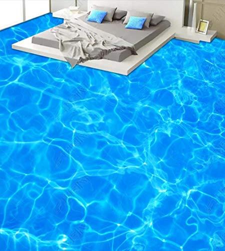 Custom Fussboden Folie 3D Boden Wandbild Pvc Weilan Meeresoberfläche Badezimmer Badezimmer Schlafzimmer 3D Boden-150 * 105Cm