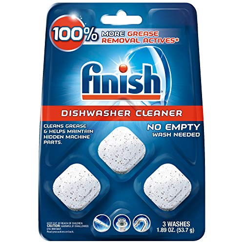 Finish In-Wash Dishwasher Cleaner: Clean Hidden Grease and Grime, 3 ct