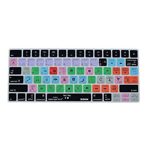 XSKN Logic Pro X 10 Shortcut Silikon Tastaturfolien sind kompatibel mit Apple Magic Keyboard MLA22LLA US Layout