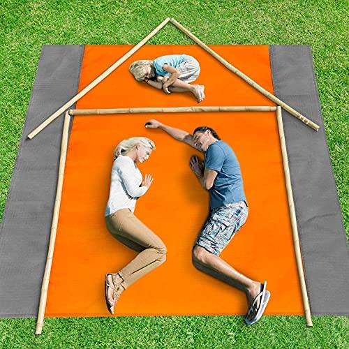 YQZ Colchón de Camping Impermeable de 83x79 Pulgadas, Manta de Picnic Plegable Ligera portátil para Exteriores, Estera de Camping, Manta de Playa para Tiendas de campaña