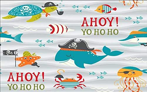 Wallpapers muurschildering op maat behang 3D Aquarium Cartoon Hd kinderkamer achtergrond muur kinderkamer entertainment stad 3D-behang 300 * 210cm