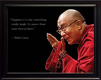 WeSellPhotos Dalai Lama Photo Picture Poster Framed Quote Happiness is not Something Famous Inspirational Motivational Quotes  8x10 Framed