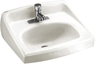 American Standard 0356.421.020 Lucerne Wall-Mount Lavatory Sink with Center Faucet Hole, White