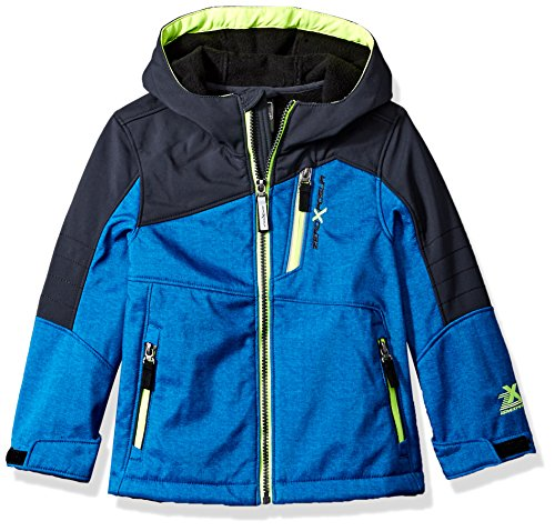 ZeroXposur Little Juvi Boys Spur Softshell Jacket, Blue Heather, Small