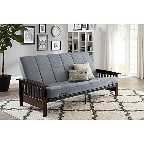 Better Homes & Gardens' Solid Mission Wood Arm Futon in Gray