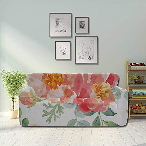 JIUCHUAN All-Inclusive-Sofabezug Waschbares 3-Sitzer-Bezugsbezug Sofa 190-230 cm Rosa...