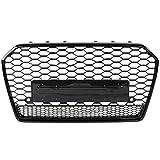 ZLQWSR Parrilla Negra, para Audi A6 / S6 C7 Facelift 2015 2016 2017 2018 Accesorios De Coche Capucha para Rs6 Estilo Delantero Deportivo Hex Malla De Nido De Abeja