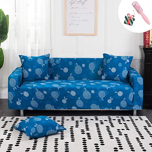 Funda Sofá Universal Estiramiento, Morbuy Jacquard Moderno Cubierta de Cubre Sofá Funda Llanura Furniture Protector Antideslizante Elastic Soft Sofa Couch Cover (Funda de Almohada * 1,Azul)