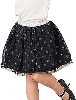ラメドット チュールスカート 女の子 子供服 キッズ ブラック 100サイズ【タグ表記9】