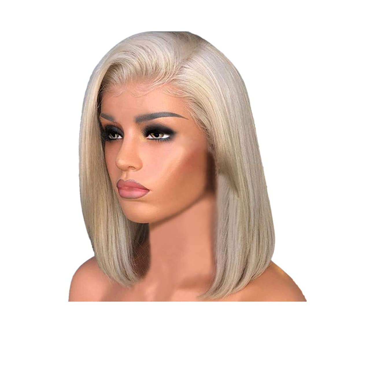 Kulywon Wig with Baby Hair Human Hair Full End Short Bob Wigs For Black Women