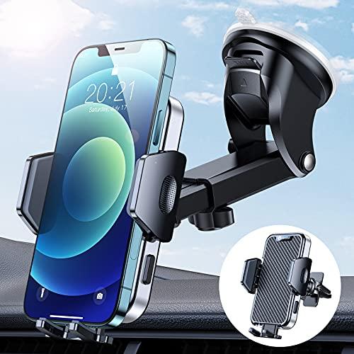 andobil Handyhalterung Auto [Ideal für den Besitz Mehrerer Autos] 2021 Handy Halterung pkw 3 in 1 Saugnapf & Lüftung KFZ Handyhalter Hält Bombenfest für Alle Smartphones, z.B iPhone Samsung Huawei LG