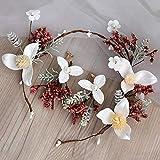 Tiara nupcial boda súper vestido de flores de hadas accesorios para el cabello maquillaje maquillaje joyas, n. ° 8 sombreros + gancho para pendientes