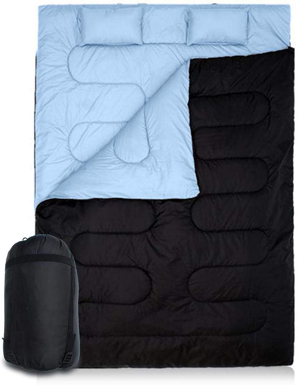 86 x 60    Doppelschlafsack Outdoor Camping Wandern Doppelschlafsack mit 2 Kissen Herbst Winter Schlafsack B07PXPZMQ1  Reichhaltiges Design 4c7f09