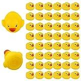LUTER 48 Piezas De Juguetes De Baño De Goma Con Forma De Patito Para Niños Pequeños Patos Amarillos Flotantes y Chirriantes Para Bañera Para Suministros De Ducha Cumpleaños Fiesta