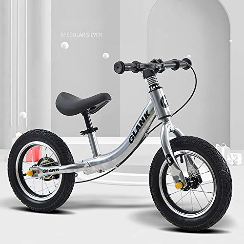TongT16 Ultraligera Balance Bike Bici sin Pedales Bicicleta de Equilibrio para Niños 12 Pulgadas Aleación de Aluminio sillín Regulable De 1 A 5 Años Regalo De Cumpleaños W-20