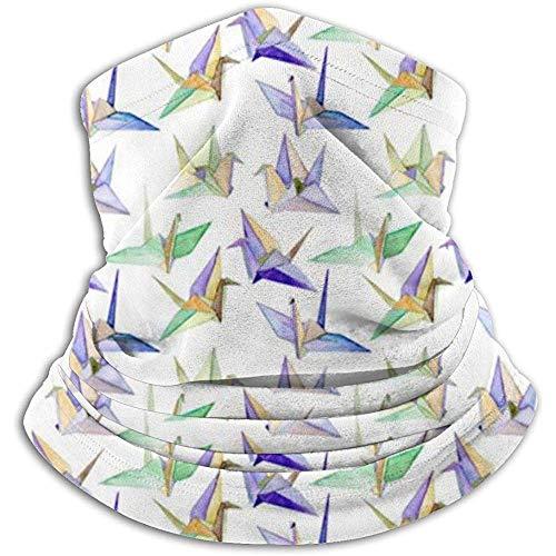 Origami Cranes Calentador de cuello Polaina Diadema Máscara facial Bandana Envoltura de cabeza Bufanda Gorros Invierno Pasamontañas Esquí Running Motocicleta