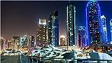 Rompecabezas de 1000 piezas Dubai Marina Ver Navidad - Rompecabezas de Santa