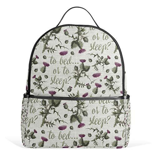 Outlander Thistle Backpack for Men Women Back Pack Shoulder Bag Daypacks Teenagers's Travel bagpacks Casual Daypack for Travel