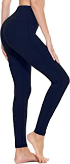 Women's High Waisted Yoga Leggings Workout Capri Tummy Control Pants with Pocket