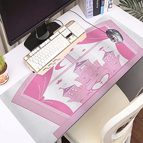 FAQIMEI Alfombrilla Gaming para PC Chicas Adolescentes Princesa Castillo Cielo Nocturno Estrellas Luna Palacio Realeza Amor V Máxima Precisión con Base de Caucho Natural, Máxima Comodidad