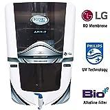 Konvio Neer Active Copper RO+UV+TDS Water Purifier with High TDS 3000 Membrane Japanese UV (Black Alkaline)