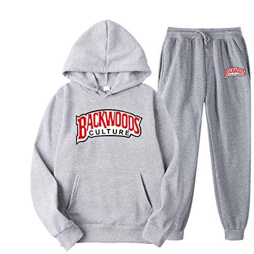 N\P Backwoods Hoodies Letra Costura Moda Casual Street Hombres y Mujeres suéter Deportivo con Capucha Traje S