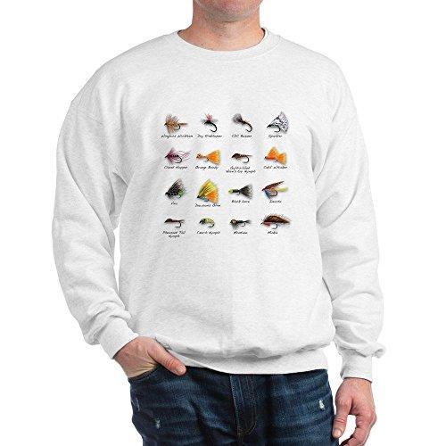 CafePress - Flies - Klassisches Sweatshirt mit Rundhalsausschnitt Gr. S, weiß