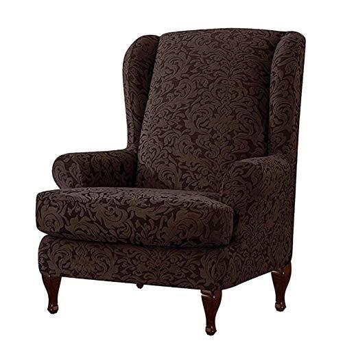 precauti 2 STÜCKE Stretch Ohrensesselbezüge, Elegante Einfarbig Floral Bedruckte Sesselbezüge Elastische Ohrensessel Schonbezüge rutschfeste Sesselbezug Schutzfolie