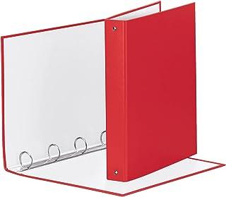 Esselte 395792920 Reliure à anneaux pour rangement de fichiers, plastique, A4, rouge