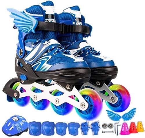 Skate Beginners Jongens Meisjes Verstelbare Kinderen Ademende Rollerblades Kinderen Kinderen Flash Schaats Set