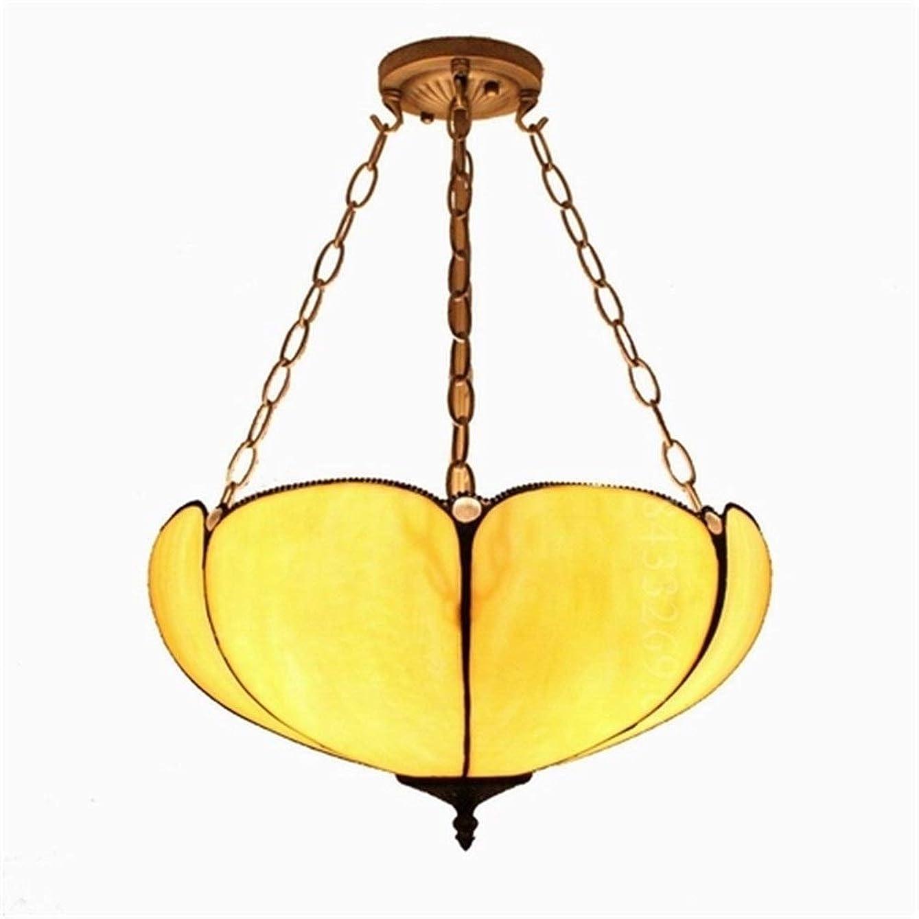 唯物論信頼性のある初期のティファニースタイル手作りシャンデリア、着色されたガラスデザイン家の装飾ランプが付いている16インチの現代ステンドランプ