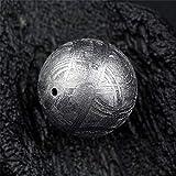 DUOVEKT - Piedra redonda suelta redonda de hierro de gibeón natural de 10 mm para hacer pulseras o collares AAAAA
