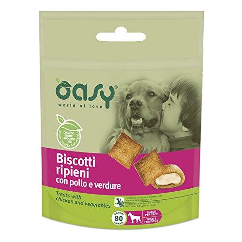 Oasy Snack Dog BISCOTTI ripieni con POLLO e VERDURE 80gr