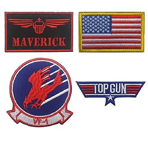 Parches para Ropa Brazalete de Bordado de aviación de la aviación del piloto de la Marina Pegatinas mágicas Set Mochila Accesorios de Ropa (1 Set) (Color : 2)