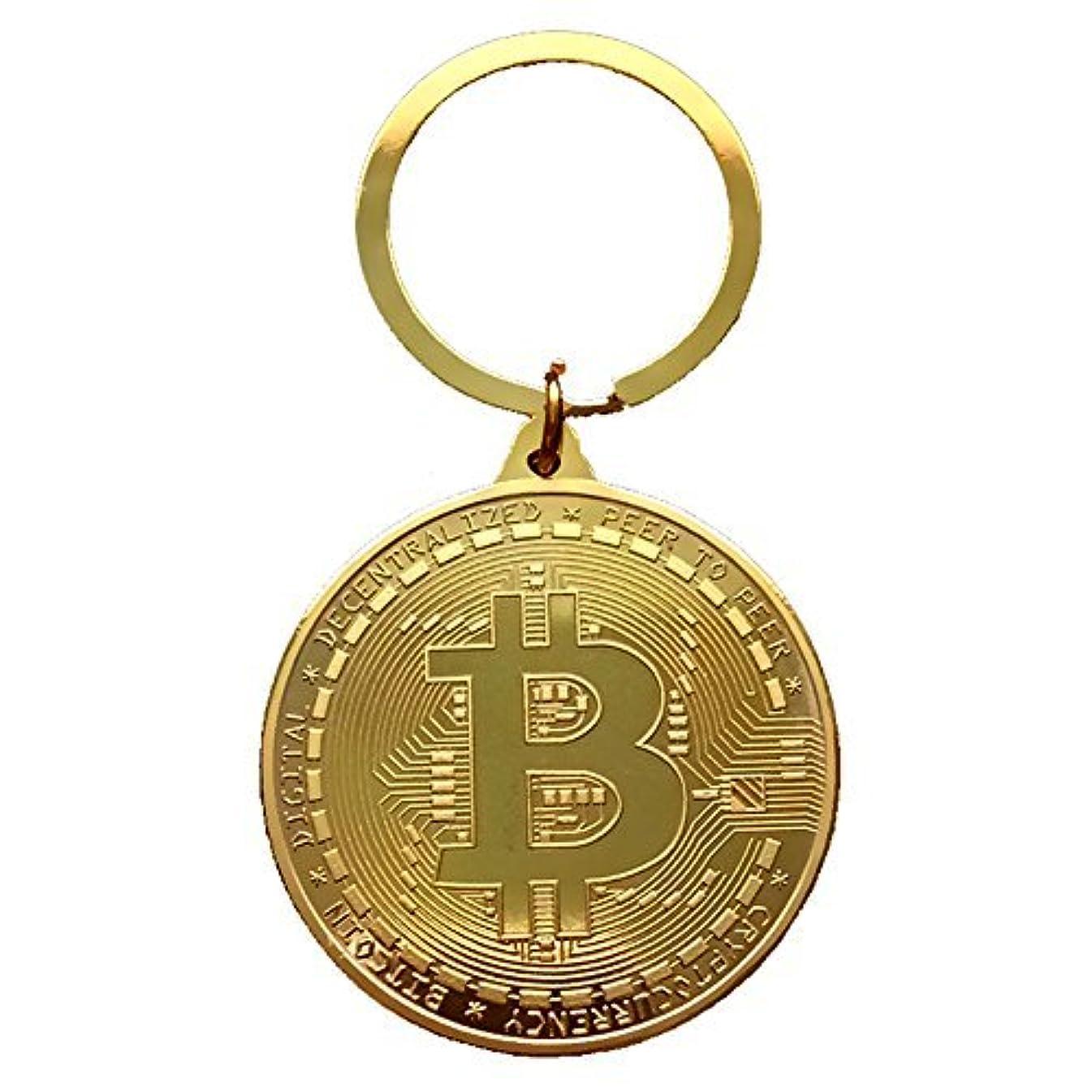 に対して小数急いでZooooM ビット コイン デザイン レプリカ メダル キーホルダー キーチェーン Bit Coin BTC 仮想 通貨 ( ゴールド ) ZM-KEY3105-GD