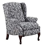 Lane Hampton High Leg Wing Back Recliner in Luisa Prussian. Free Curbside Delivery. 6002