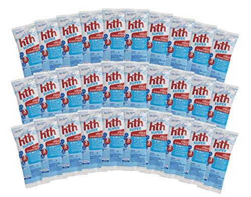HTH Super Shock Pool Treatment 4-in-1 Variety Pack (30)