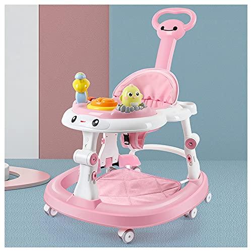 CJW-LC Andador Plegable para Actividades para Bebés, Altura Ajustable De 2 Velocidades con 6 Ruedas Silenciosas, Antivuelco Andadores para Bebés, Adecuado para Niños Y Niñas De 6 A 18 Meses,D