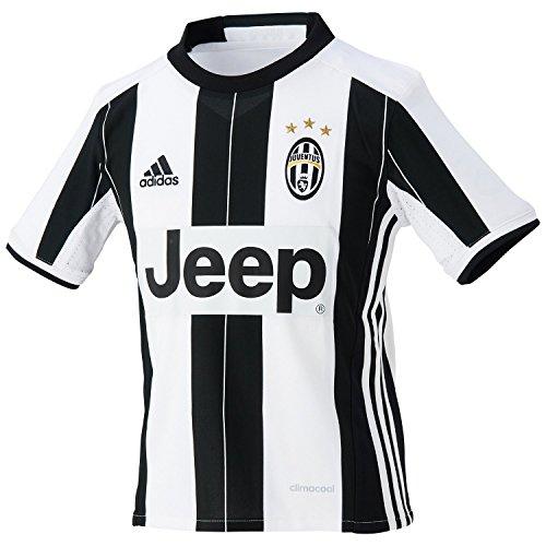 adidas Juve H JSY Y Camiseta 1ª Equipación Juventus FC 2015/2016, Niños, Blanco/Negro, 9-10 años