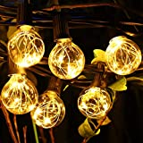 Aimosen Guirnaldas Luces Exterior, 11M Cadena de Luz 30 G40 LED...