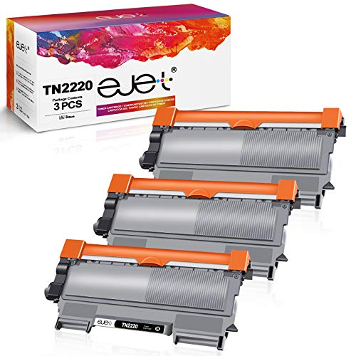 ejet TN2220 Toner Compatibile per Brother TN2220 TN-2220 TN2010 TN-2010 Toner per Brother MFC-7460DN HL-2250DN HL-2130 HL-2270DW HL-2240D MFC-7360N FAX-2840 HL-2240 DCP-7065DN HL-2132 (3 Neri)