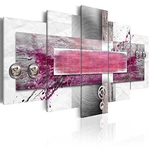 murando Cuadro en Lienzo Rosa Abstracto 200x100 - Impresión de 5 Piezas Material Tejido no Tejido Impresión Artística Imagen Gráfica Decoracion de Pared Moderno 020101-187