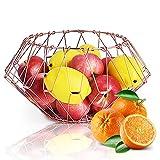 Creative Fruit Bowls Multi-Funcional Oro Rosa Fruta Cestas Decoraciones de Salón y Comedor Adecuado para muchos tipos de frutas (2 unidades)