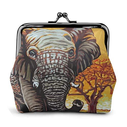 PecoStar Geldbörse mit indischem Elefantengemälde, PU-Leder, Münzbeutel, Geschenk, Schmuck, Karten, Schmuckstücke, Verschluss