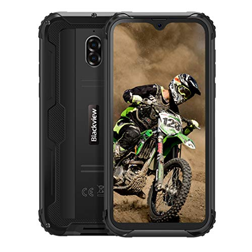Backview BV5900 Telefonos Resistentes, 5.7 Pulgadas HD+, 3Go+32GB, Android 9.0 Móvil Libres, Batería 5580mAh, Modo de Cámara Subacuática, IP68 Impermeable/Antigolpes, Smartphone Dual SIM 4G, NFC