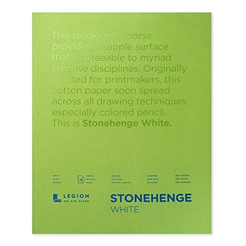 Legion Paper Stonehenge Block, 28 x 35 cm, Weiß, 15 Blatt